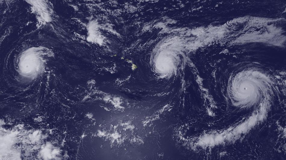 3 cyclones dans le Pacifique