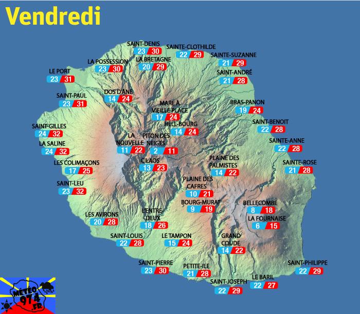 Prévisions - Réunion